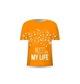 Music is my life t-shirt design template vector image