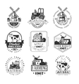 Natural Farm Products Black And White Sign Design vector image