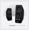 speakers isolated vector image