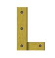 wood letter L vector image