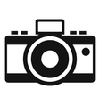 Photocamera icon simple style vector image