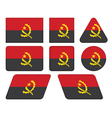 buttons with flag of Angola vector image