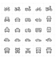 icon set - vehicle and transport vector image vector image