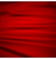 Beautiful Red Silk Drapery Textile Background vector image