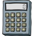 doodle calculator vector image vector image