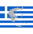 Map and flag of Greece vector image