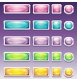 Big set of buttons in glamorous white frame vector image vector image