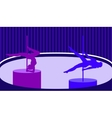 Pole dancers in pole dance studio flat style vector image