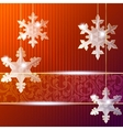 banner with snowflake ornaments vector image vector image