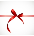 Gift Card with Red Ribbon and Bow vector image