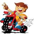 cartoon rider vector image vector image