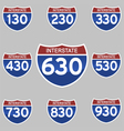 INTERSTATE SIGNS 130-930 vector image