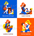 Design concept of beautiful woman and child vector image