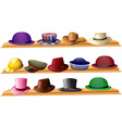 Different kind of hats vector image