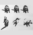 ferrets vector image