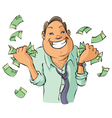 Man with money vector image