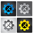 Object tool and Colorful icon design Screwdriver vector image