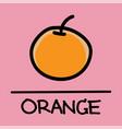 orange hand-drawn style vector image