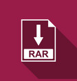 rar file document icon download rar button icon vector image