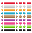 set of colorful buttons vector image