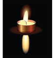 Small burning candle vector image