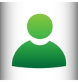 User sign Green gradient icon vector image