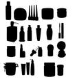 Wide range of cosmetic jars vector image