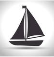 boat wood marine icon vector image