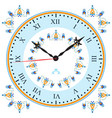 clock with oriental pattern vector image