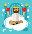 paradise concept god in heaven flat style vector image