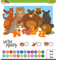count how many animals game vector image vector image