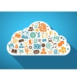 Multimedia and mobile apps in the cloud vector image