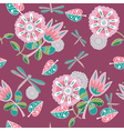 vintage floral pattern vector image