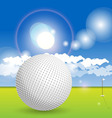 golf concept vector image vector image