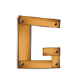 wooden type g vector image vector image