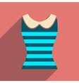 Flat icon with long shadow women blouse vector image