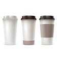 Coffee Paper Cup Set vector image vector image