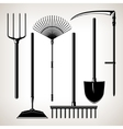 Set of Agricultural Tools vector image