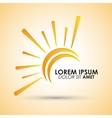 Icon of yellow sun vector image