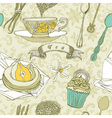 Vintage Tea Time Pattern vector image vector image