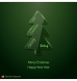 Abstract glass Christmas tree vector image