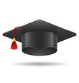 academic graduation mortarboard square cap vector image