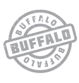 Buffalo rubber stamp vector image