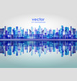 city skyline with reflection in water vector image