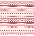 Cross stitch seamless pattern vector image