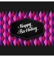 Happy Birthday emblem and vector image