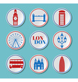 London Set round stickers vector image