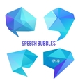 Low poly speech bubbles vector image