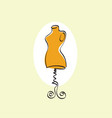 mannequin stand female tailor icon vector image