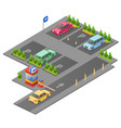 parking lot isometric 3d for vector image